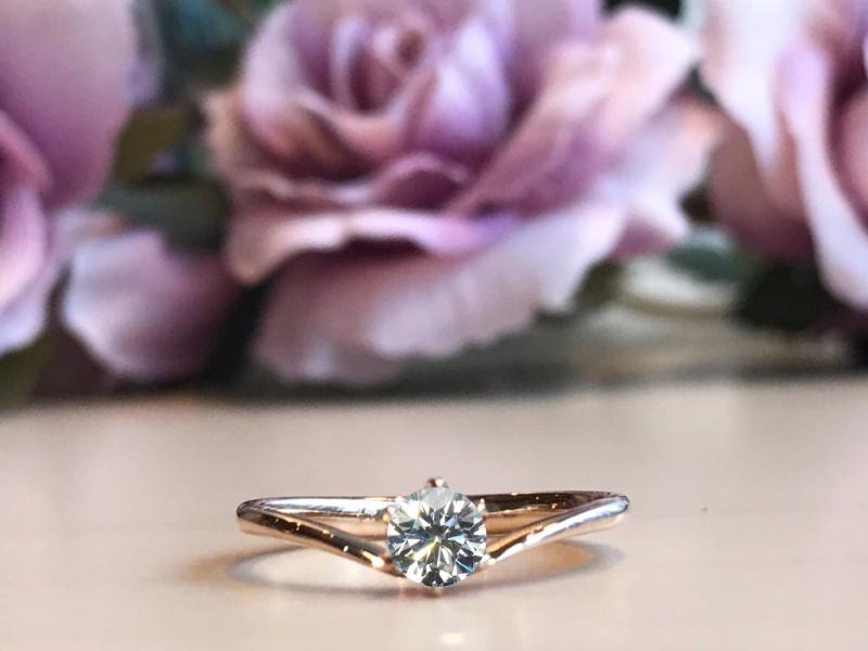 ピンクゴールド婚約指輪
