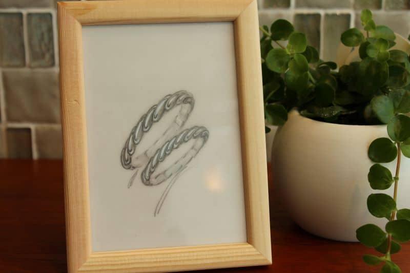 手作り結婚指輪デザイン1