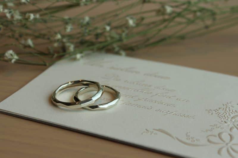 手作り結婚指輪完成品2