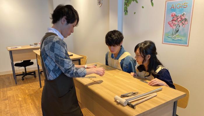 手作り結婚指輪制作風景