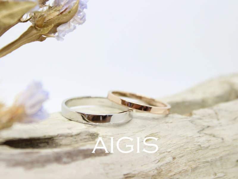 鍛造コースの結婚指輪