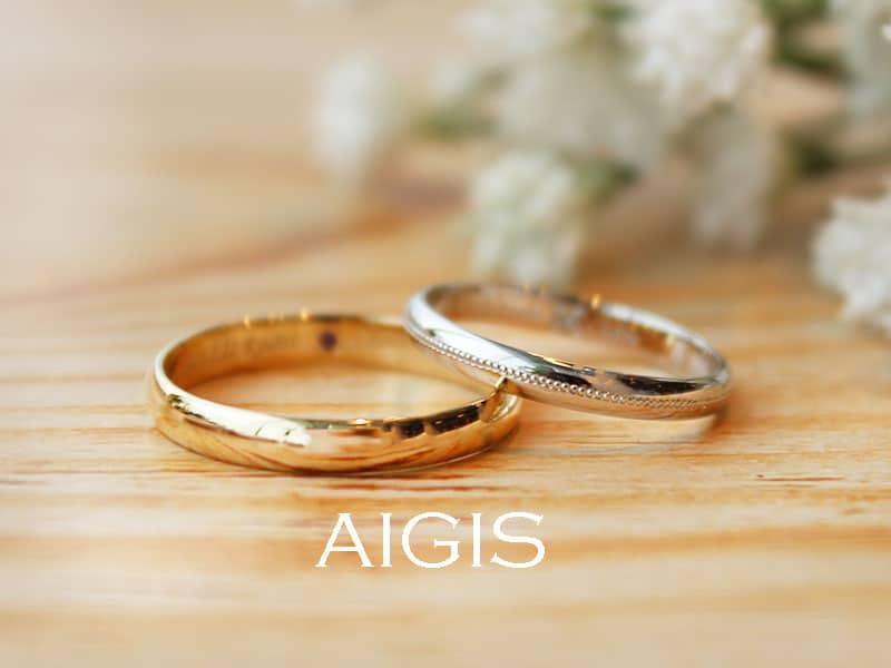 鍛造手作り結婚指輪