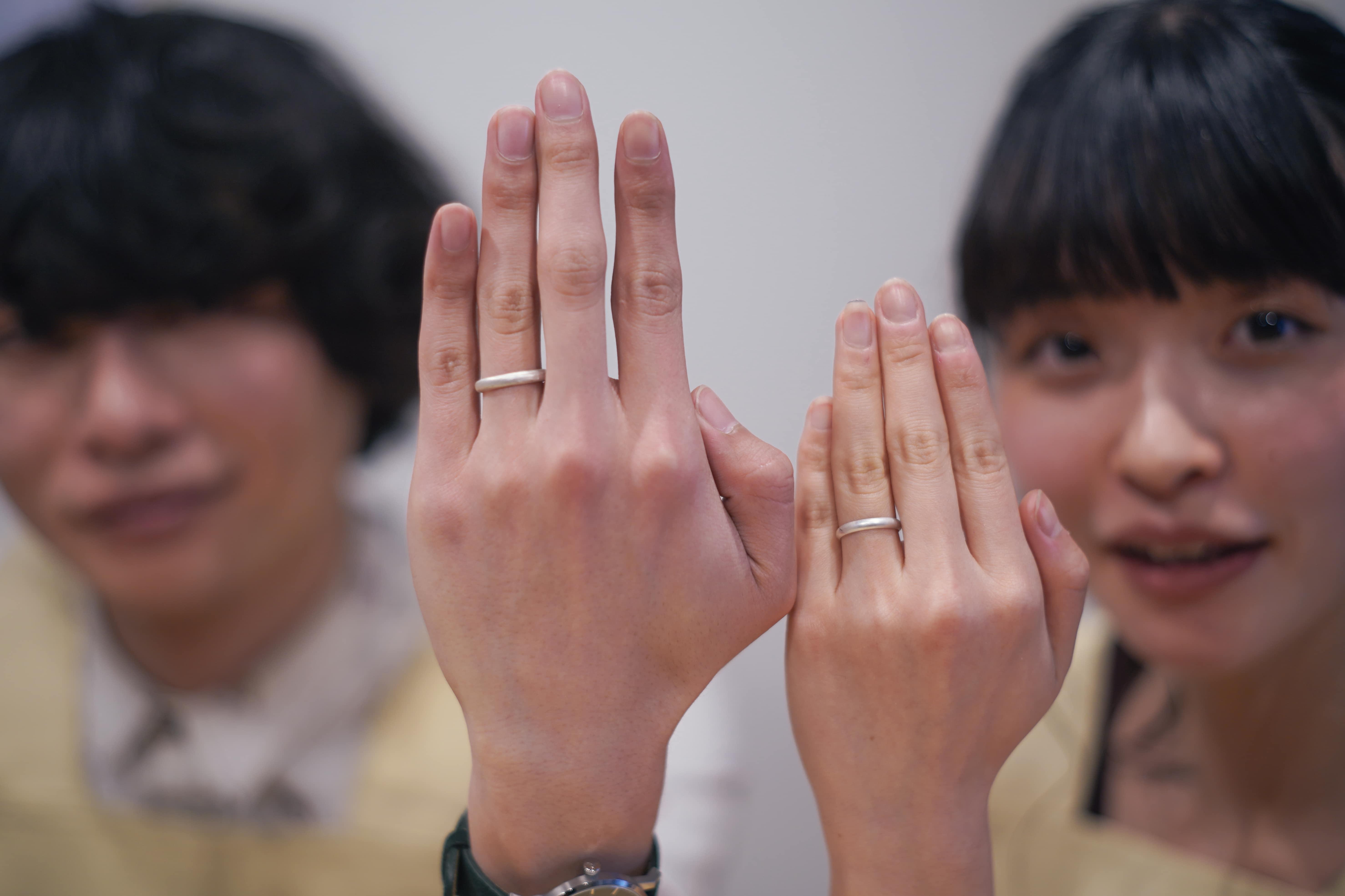 結婚指輪完成