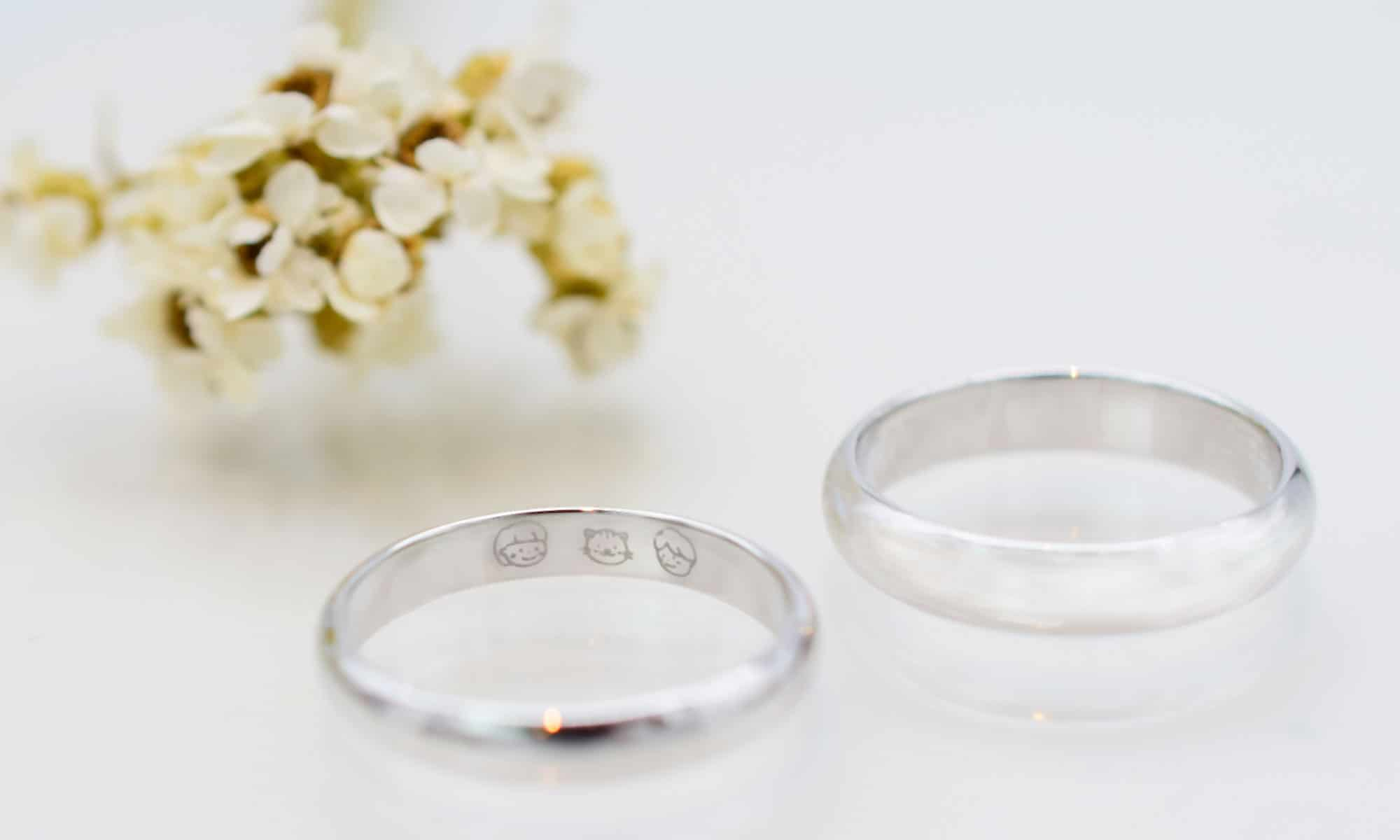 手作り指輪イラスト刻印